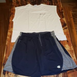Champion Outfit! Tank Top & Shorts Size XL. In EUC